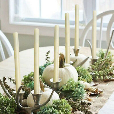Wax Dinner Candles - LED Taper Candle Flameless Real Wax Dinner Lights with Timer Romantic Decoration