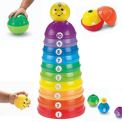Baby Toy Stacking Developmental Stack Fisher Price Roll Cups