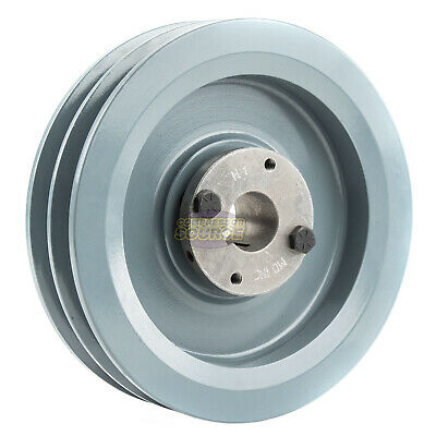 B Section Dual Groove 2 Piece 6.75 Pulley W 1 Sheave Shiv Cast Iron 5l V Belt