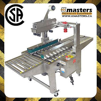 Carton Box Case Sealer Tape Sealing Machine Stainless Steel Kmasters Csm-5020s