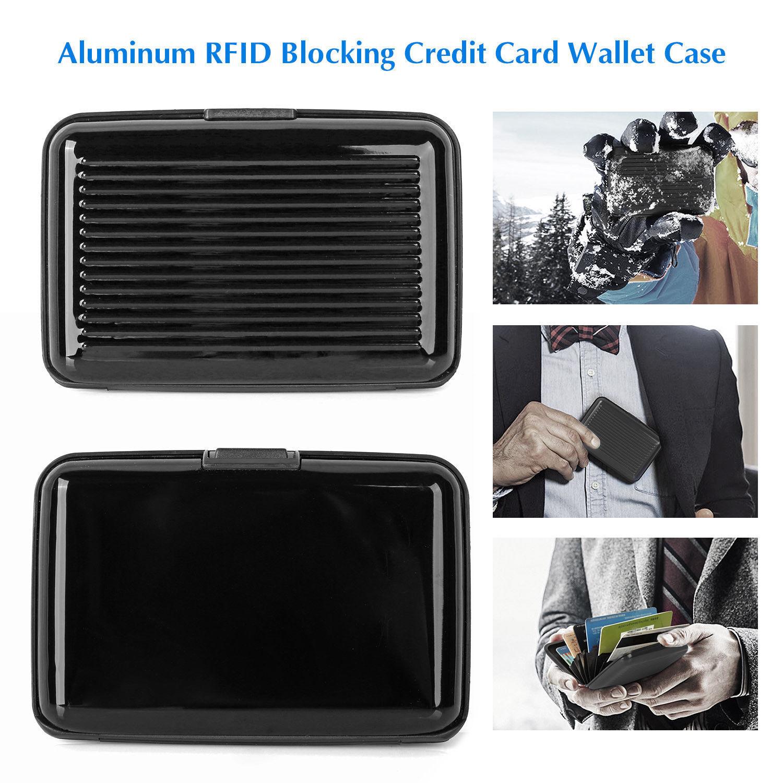 Carbon Fiber Blocking Hard Case Wallet Credit Card Anti-RFID Scanning Holder