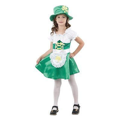 KIDS LEPRECHAUN GIRL ST PATRICKS DAY FANCY DRESS BOOK WEEK SIZE 4-12 - Girl Leprechaun