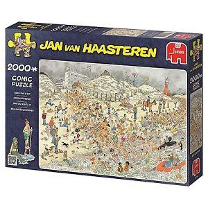 Jan van Haasteren Puzzle Neujahrsschwimmen 19040 Jumbo 2000 Teile  NEU OVP