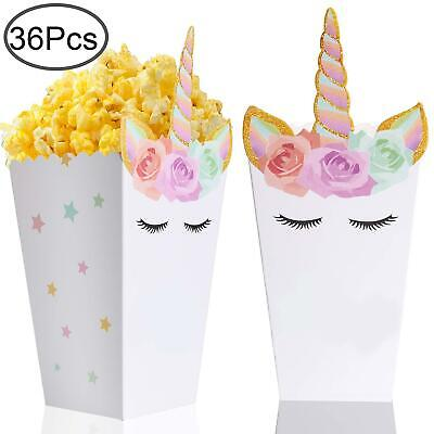 36 Pcs Popcorn Boxes Treats for Unicorn Party Favors Supplies by Standie (Boxes For Favors)
