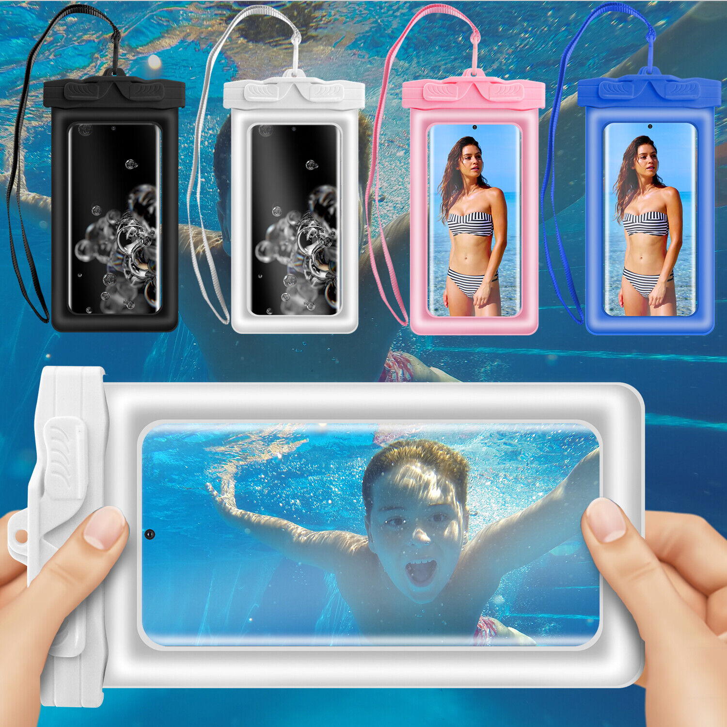 For Samsung Galaxy Note 20/10/8/9 Underwater Floating Waterproof Dry Bag Pouch Cases, Covers & Skins