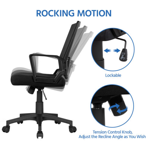 Pack of 2 Mesh Office Chair Computer Chair Desk Chair