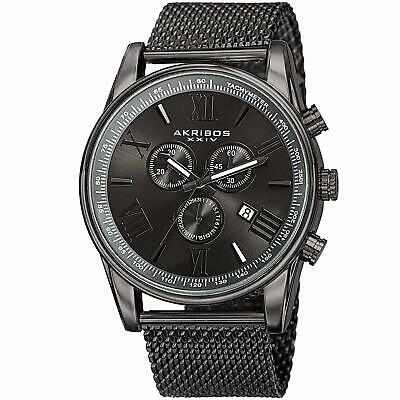 Akribos XXIV Chronograph Stainless Steel Mesh Watch # AK813GN