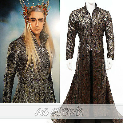Best The Hobbit Elf Elven King Thranduil Diadema Cosplay Costume Outfit Any Size