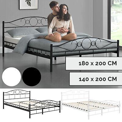 Metallbett Bettgestell Doppelbett Bett mit Lattenrost aus Metall ArtLife®