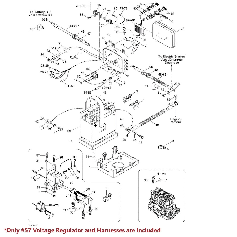 Voltage Regulator Assy For Sea-Doo 278001241 278001554