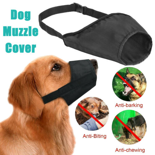 Adjustable Dog Muzzle Cover Soft Breathable Anti Biting Barking Dog Mouth Cover