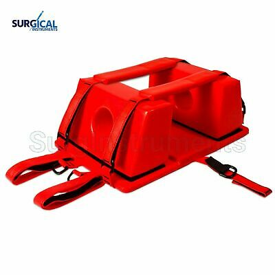 Emergency Spine Board Reusable Head Immobilizer For Emsemt Red Color