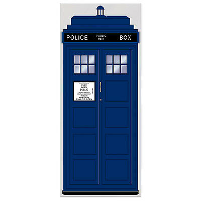 British Themed Party Decoration POLICE CALL BOX Door Cover