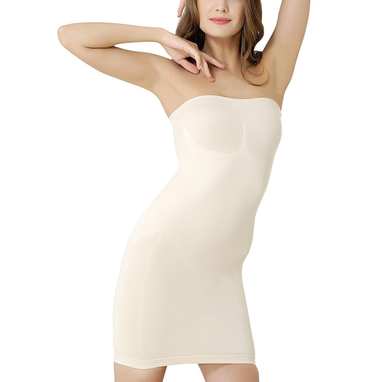Miederkleid Damen Stark formende, trägerlos, Bauchweg Shapewear, Unterkleid NEU