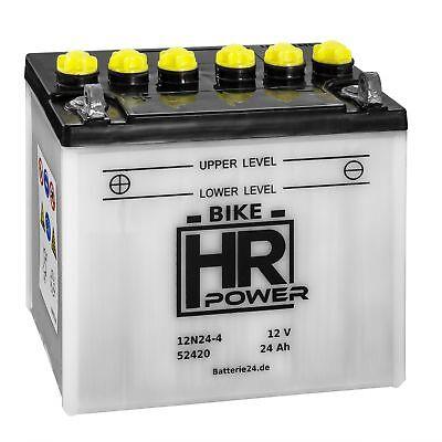 Rasentraktor Batterie Aufsitzmäher 12V 24Ah 12N24-4 52420 Starterbatterie