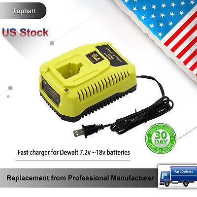 Replace for Dewalt 18v DC9310 Battery 7.2-Volt to 18-Volt NiCd/NiMh Charger
