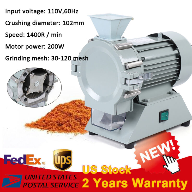 200W Micro-soil Disintegrator Crusher Pulverizer Micro Soil Grinder 110V 1400rpm
