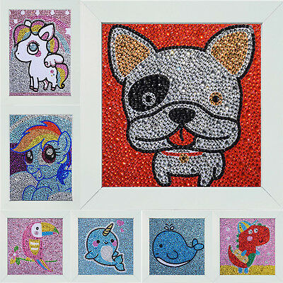 5D DIY Full Drill Special Shaped Diamond Painting Cartoon Cross Stitch + Frame