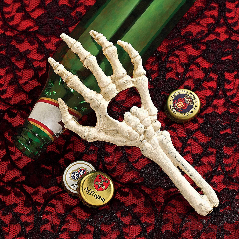 Cast Iron Skeleton Ghost Hand Bottle Opener Halloween Bar Pr