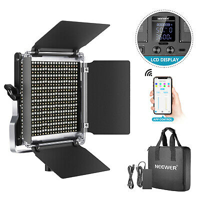 528 LED Video Light, Bi-Color Photography Lighting Kit with Control System