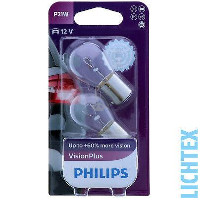 P21W PHILIPS VisionPlus Leistungsstärkeres Licht Scheinwerfer Lampe DUO-Pack gebraucht kaufen  Worms