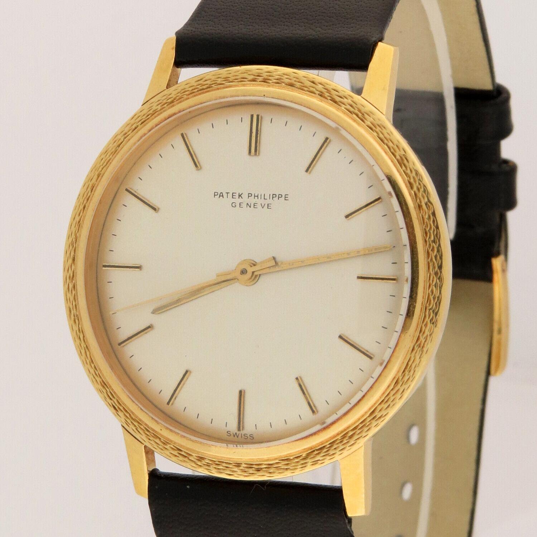 Patek Philippe 18K Gold Calatrava 3569/1 Automatic Watch 35mm Cal.350 18K Buckle - watch picture 1