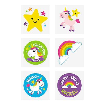 Temporary Rainbow Tattoos (Kids Temporary Tattoos Rainbow Unicorns Party Favours Pack of 36 Free)