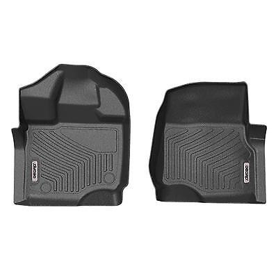 All Weather Fit for 2015 2018 Ford F150 Super Crew Cab TPE Front Floor Mats