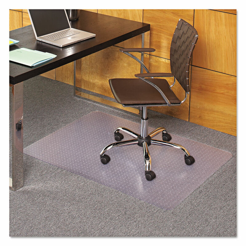 "ES Robbins Task Series AnchorBar Chair Mat for Carpet up to 0.13"" 36 x 44 Clear"