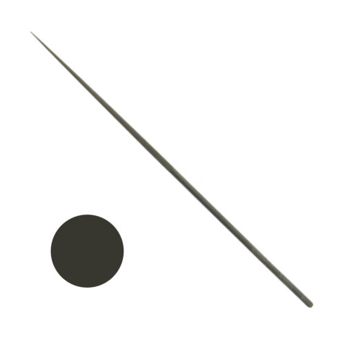"Grobet Swiss Round Needle File 20cm Cut #0 #2 #4 Vallorbe 8"" Highest Quality"