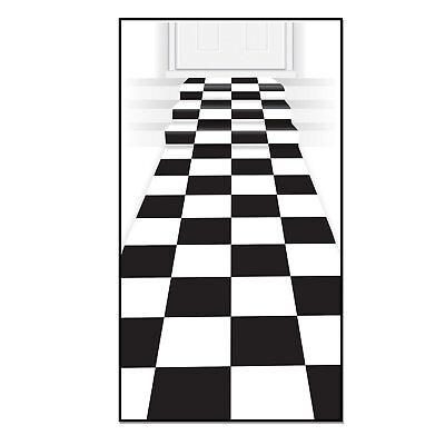 The Holiday Aisle Checkered Black/White Area Rug (Checkered Carpet Black And White)