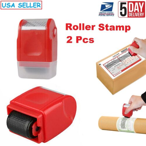 2X Identity Theft Protection Roller Stamp Guard for ID Privacy Confidential Data