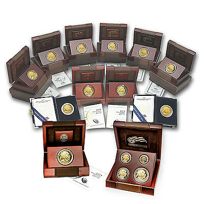 Click now to see the BUY IT NOW Price! 2006 2016 15 COIN COMPLETE PROOF GOLD BUFFALO SET W/BOX & COA   SKU 89953