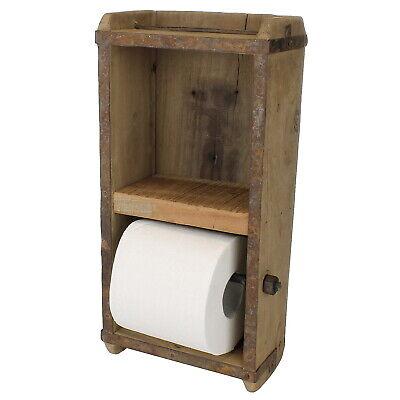 Toilettenpapierhalter Holz Antique Ziegelform WC Deko-Holzkiste Klorollenhalter