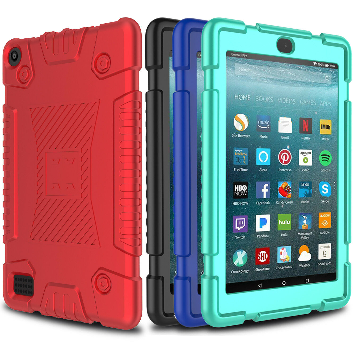 For Amazon Kindle Fire HD 8 7 2017 Tablet Case Hybrid Rugged