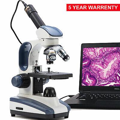 Swift Compound Microscope 40x-1000x Biology Science Student Digital Usb Camera