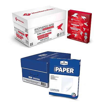 "Printer Paper 5000 Sheets Copy Paper 10 Reams Case White 8 1/2 x 11"" Letter Size"