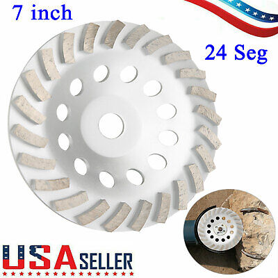 7 Heavy Duty 24 Seg Diamond Cup Wheel For Concrete Stone Masonry Grinding New