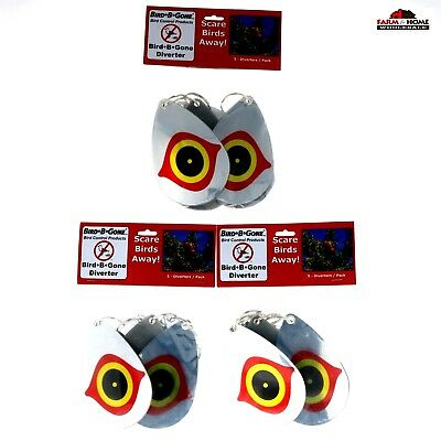 (3) Bird B Gone Repellent Scare Eye Diverters 5 Pack ~ New