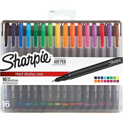 Sharpie Art Pens Fine Point Assorted Colors Hard Case 16 Count 1983966