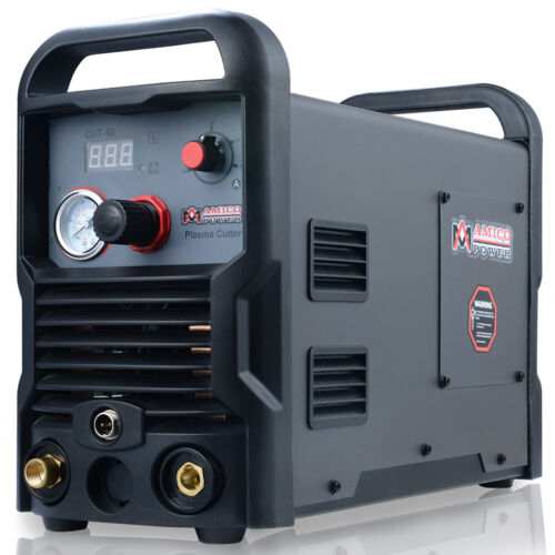 Amico 50 Amp Plasma Cutter, Pro. Cutting Machine, 110/230V Dual Voltage CUT-50
