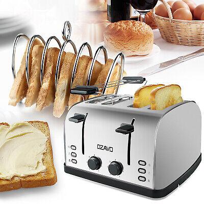 Toaster 4 Scheiben Brötchenaufsatz 7 Stufen Zentrierfunktion 1500W