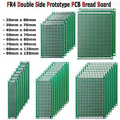 Prototype Pcb Bread Board Tinned Universal Double Side Fr4 2x8cm - 9x15cm 10pcs