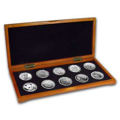 2018 10-Coin Silver 1 oz Around the World Bullion Set - SKU#162301