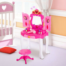 Tocador Infantil Princesa Mesita de Maquillaje Luz y Sonido Accesorios Secador