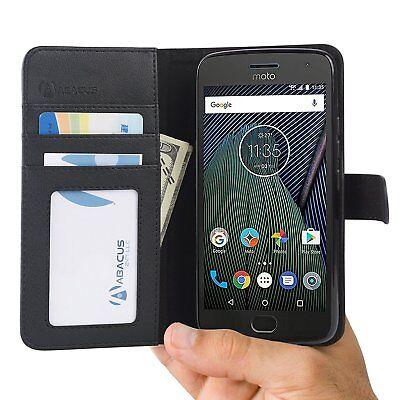 Abacus24-7 Black Wallet Flip Case Cover for Motorola Moto G5 Plus (2017) Phone
