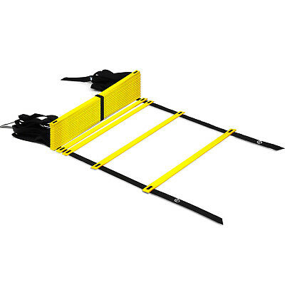 Yes4All Speed Agility Ladder with Carry Bag - Adjustable 20 Rung (Yellow)²2