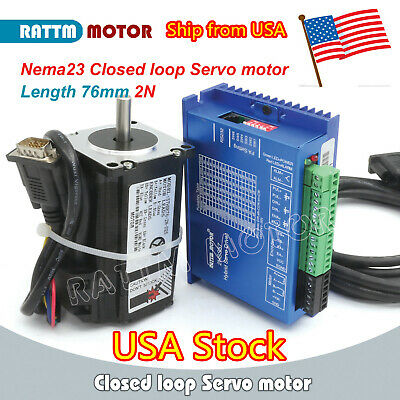 Usnema23 76mm 2nm Closed Loop Servostepper Motor Hybrid Servo Driver Cnc Kit
