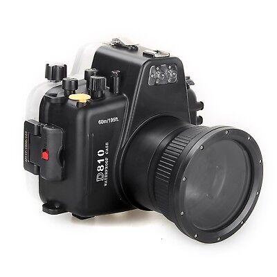 Meikon 60m/195ft Unterwasser Kamera Tauchen Gehäuse Case Für Nikon D810