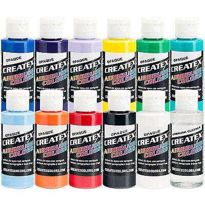 Createx 11 COLOR OPAQUE SET Airbrush Paint Colors